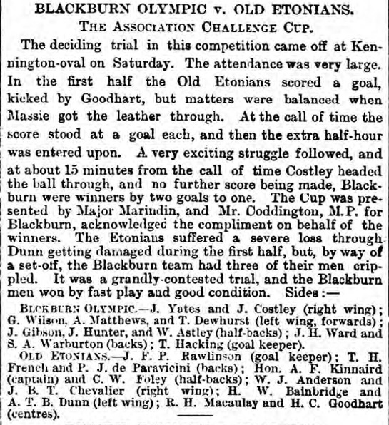1883 FA Cup final 1