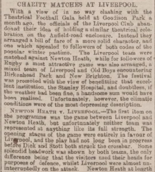1894 LFC v Newton Heath charity 1