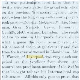 1897 Llandudno Swifts