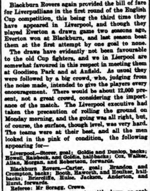 1899 LFC v BRFC Athletic News 1