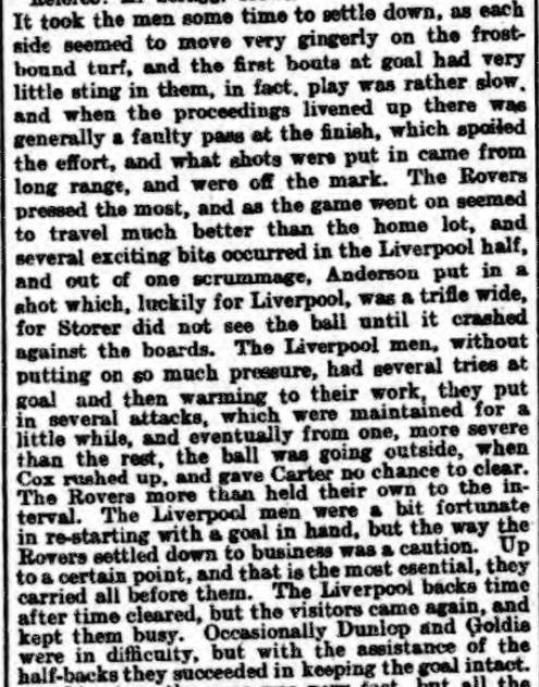1899 LFC v BRFC Athletic News 2