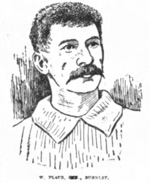 Walter Place, sen., Royal Rovers (1881), Burnley Wanderers (1883), Burnley (1890), Bacup (1893), Burnley (1894) – Lancashire Evening Post, January 21 – 1899.
