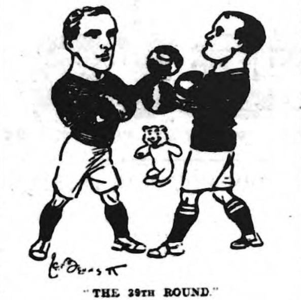 1910 LFC v EFC cartoon pre match