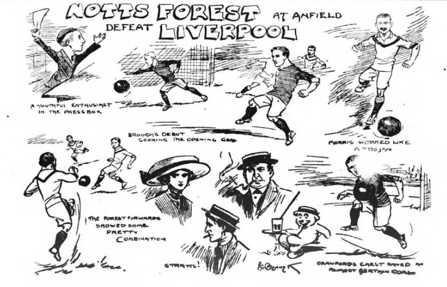 1910 LFC v Forest sketch