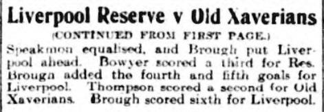 1910 LFC Res v Old Xaverians 2