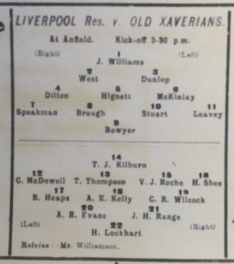 1910 LFC Res v Old Xaverians 3