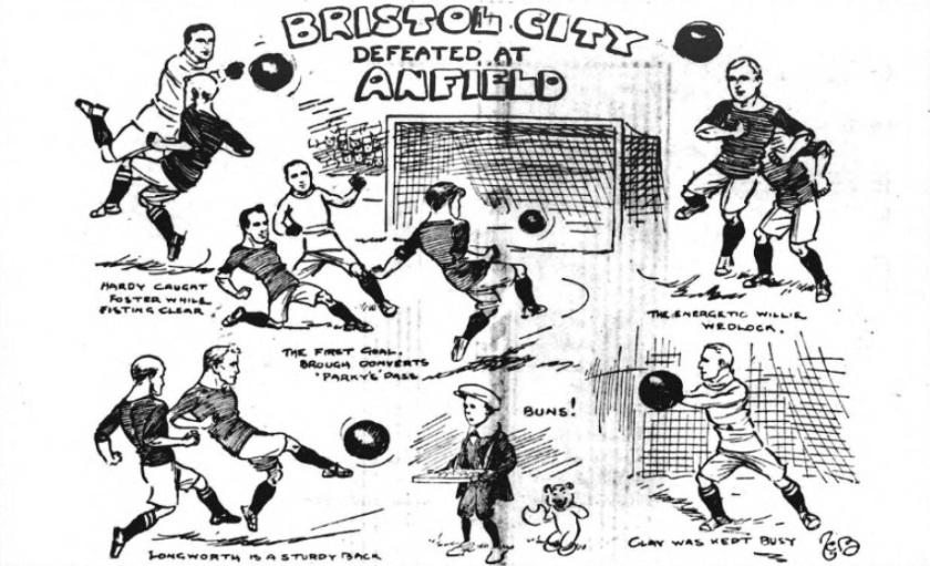 1910 LFC v Bristol City sketch