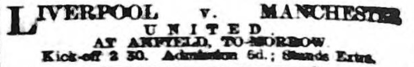1910 LFC v MUFC ad