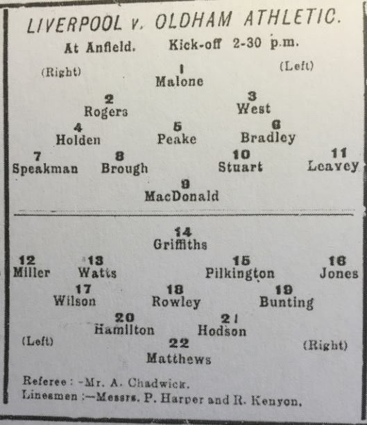 1910 LFC Res v Oldham Ath res