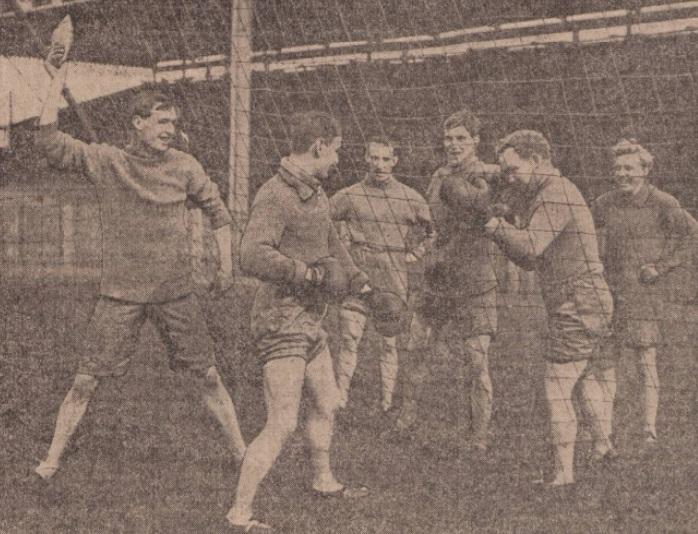 Joe Smith and Jack Feebury Bolton boxing 1913