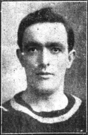 Alf Lorrimer, Burnley, killed in action in Egypt, on February 1 - 1915. Image from Lancashire Evening Post, February 6 - 1915.