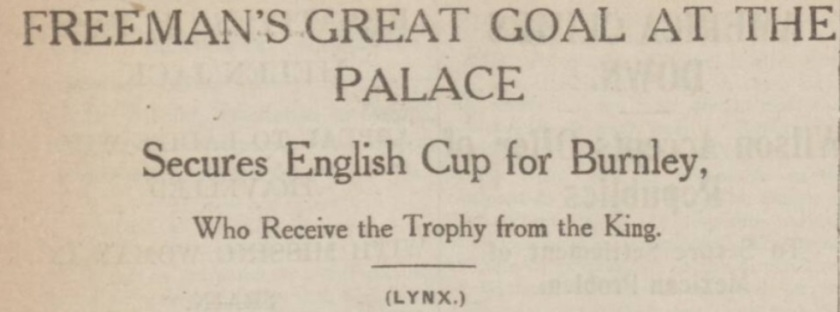 Cup final report 1914 1