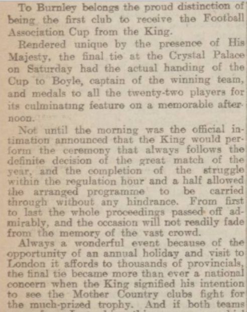 Cup final report 1914 2