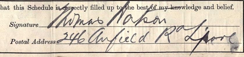 Tom Watson signature