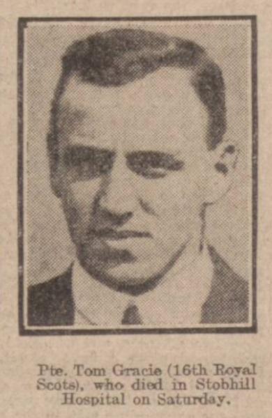 Tom Gracie 1915 Daily Record