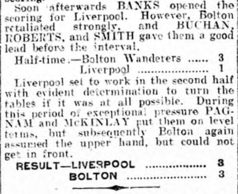Liverpool vs Bolton Wanderers, Anfield, 1915