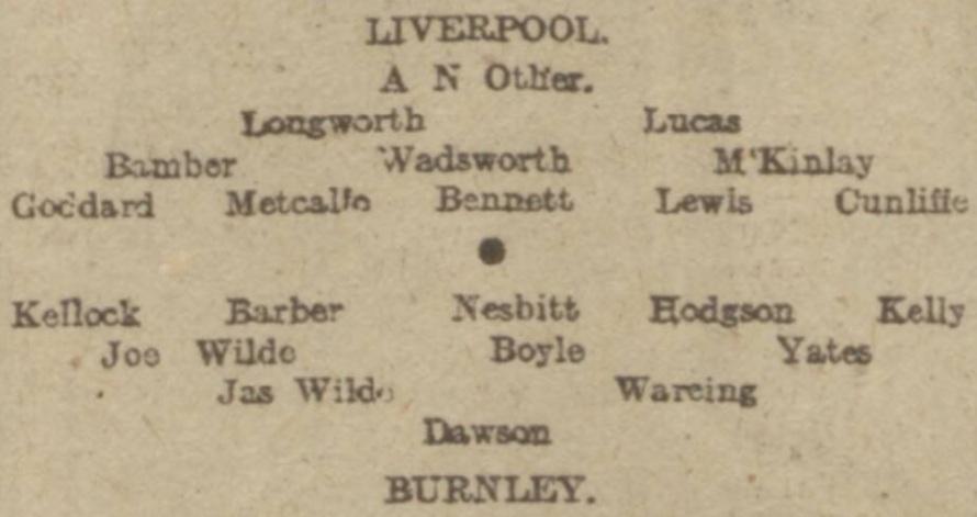 Burnley v LFC Jan 1917