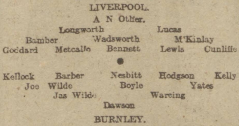 Burnley v LFC Jan 1917
