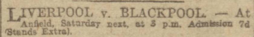LFC v Blackpool Jan 1917 1