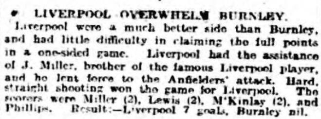 1918 LFC v Burnley