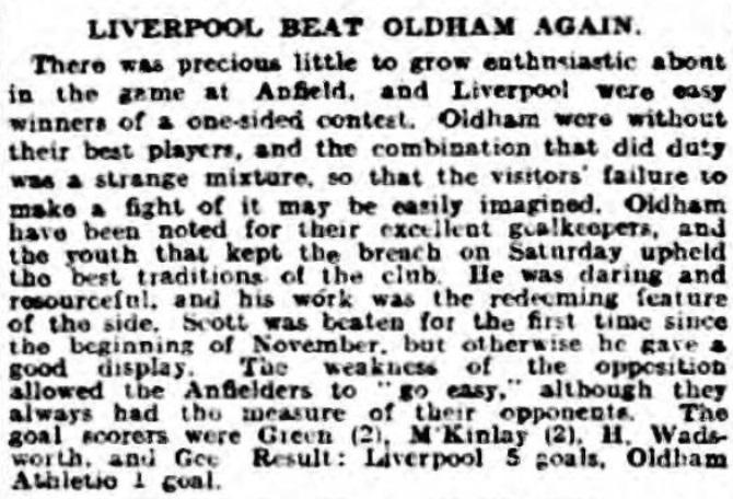 1918 LFC v Oldham