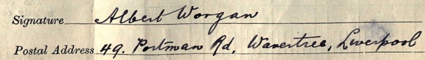 Worgan 1911 census