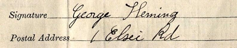 George Fleming census 1911