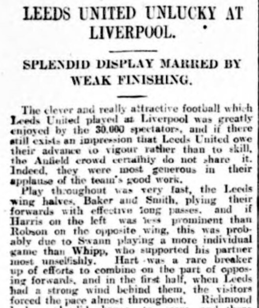 Liverpool v Leeds United, Anfield, 1924.