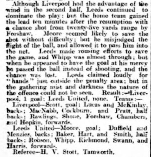 Liverpool v Leeds United, Anfield, 1924.