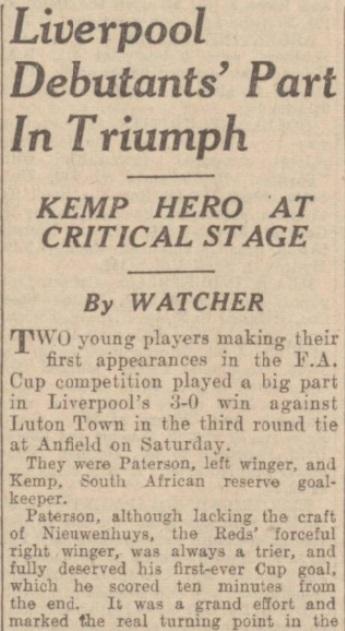 1939 LFC v Luton Evening Experss match report 1