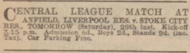 1939 LFC Res v Stoke ad