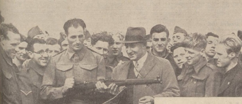 matt-busby-in-army-camp-with-rifle