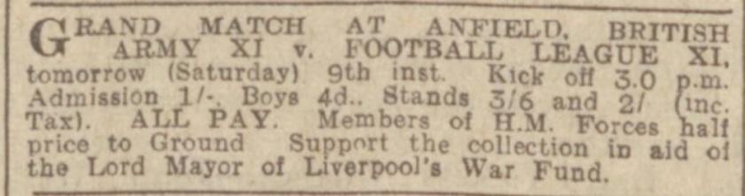 1940 ad international Anfield