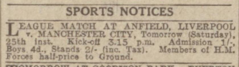 1940 LFC v MCFC May 4
