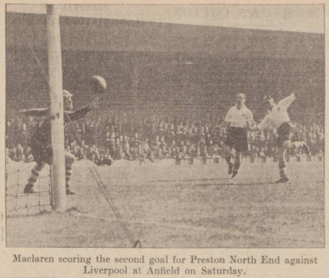 1940 Liverpool v Preston North End Daily Post image