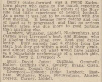 1942 Bury v LFC January 5