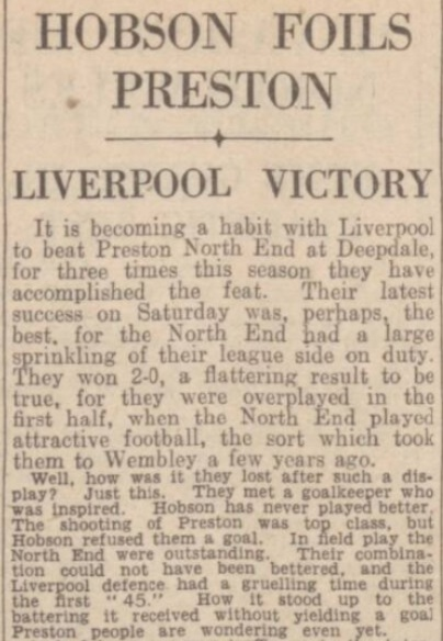 1942 PNE v LFC Daily Post 1