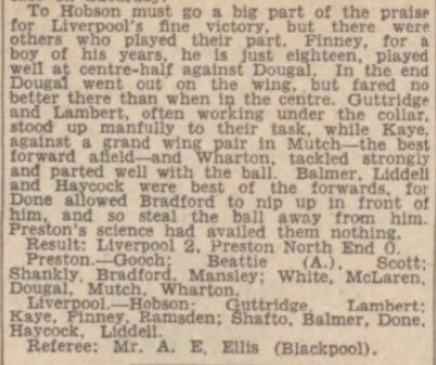 1942 PNE v LFC Daily Post 3
