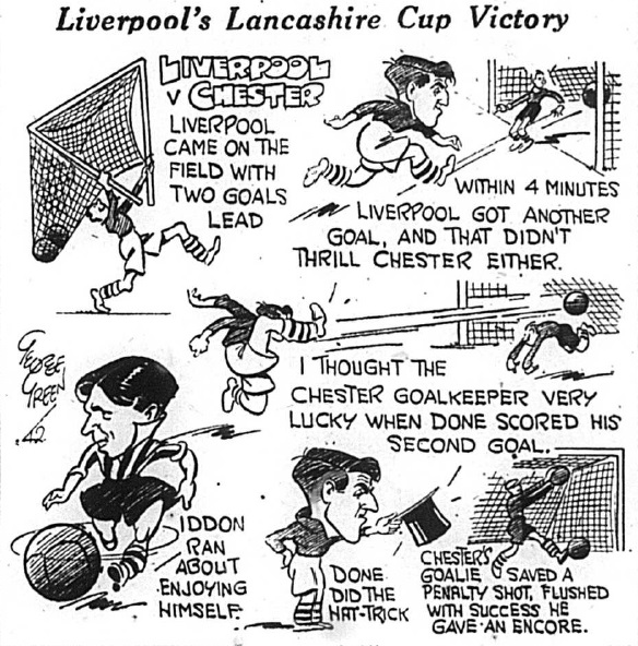 1942 Sketch Chester v Liverpool