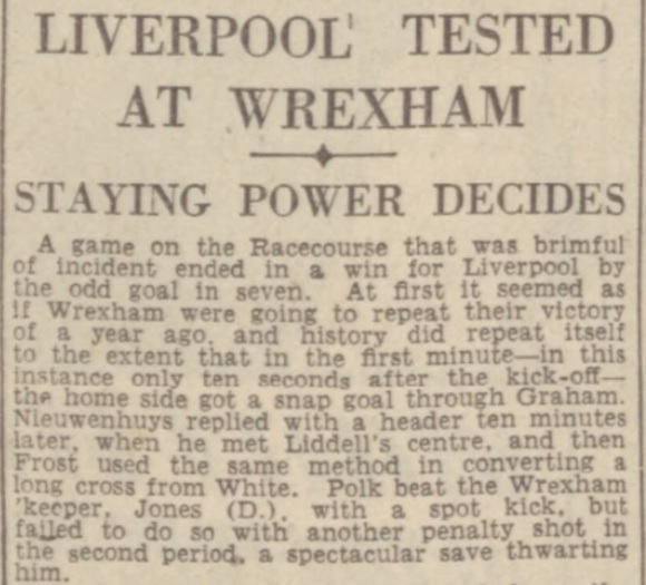 1942 LFC v Wrexham August 1
