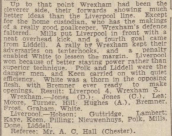 1942 LFC v Wrexham August 2
