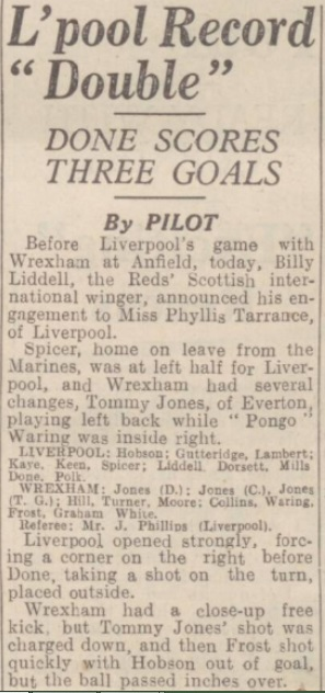 1942 LFC v Wrexham September 1