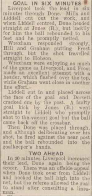 1942 LFC v Wrexham September 2