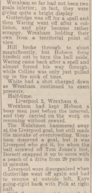 1942 LFC v Wrexham September 3