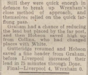 1942 LFC v Wrexham September 4