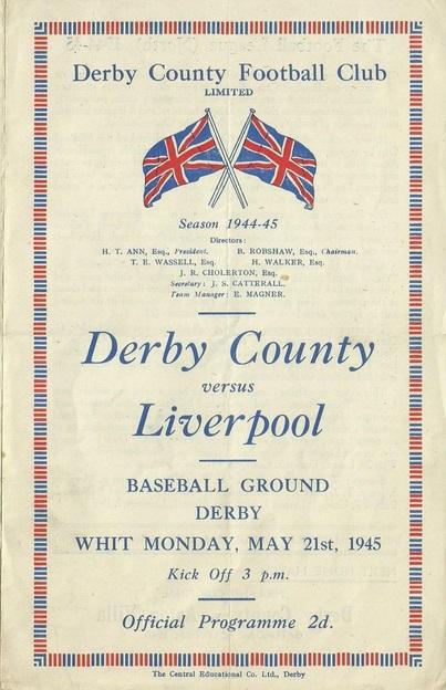 1945 DCFC v LFC match programme 1