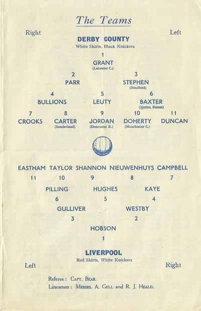 1945 DCFC v LFC match programme 2