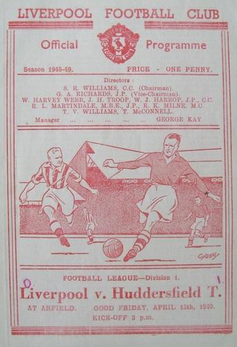 1949 LFC v Hudds 3 match programme