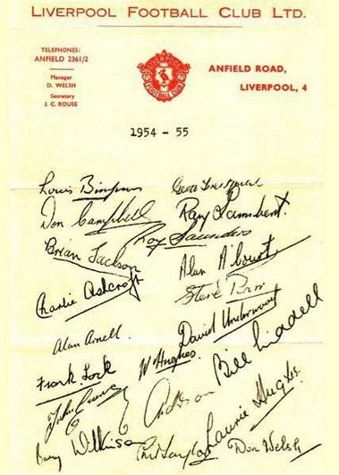 1954 autografer