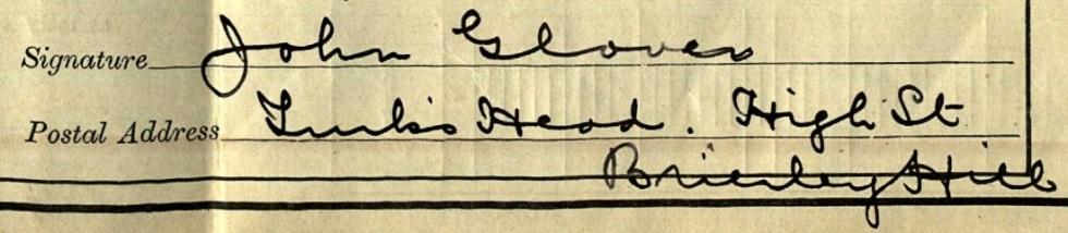 John Glover signature